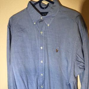 Ralph Lauren Classic Fitted Men's Light Blue Shirt